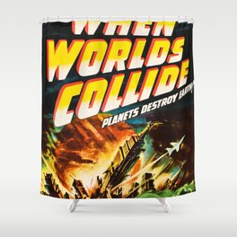 Planet Destroy Earth Shower Curtain