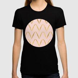 Pink Gold Foil 05 T-shirt