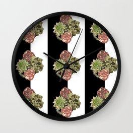 When Floral Meets Succulent Wall Clock