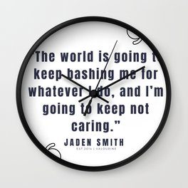42 |  Jaden Smith Quotes | 190904 Wall Clock