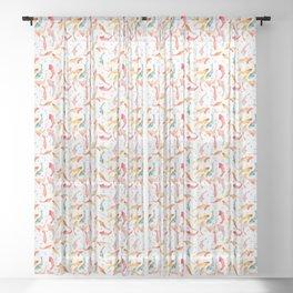 Watercolored Koi Pond Sheer Curtain