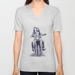 Biker Babes Unisex V-Neck