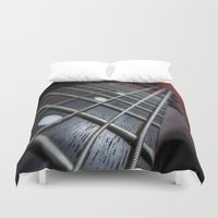 guitar Duvet Covers featuring Guitar by Asylum Photography