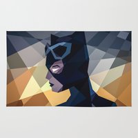 dc comics Area & Throw Rugs featuring DC Comics Catwoman by Eric Dufresne