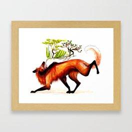 The Maned Wolf Framed Art Print
