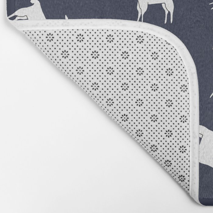ALPACA PATTERN INDIGO - ALL ABOUT LLAMAS Bath Mat