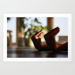 Hands in Yoga practice, tension Art Print