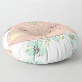 Rosey Cat Floor Pillow