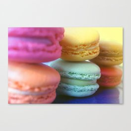 Macaron Rainbow 1 Canvas Print