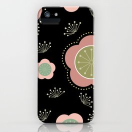 Japanese-inspired Plum Blossoms iPhone Case