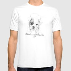Patch, A Boxer Puppy :: Shelter Dog Project MEDIUM Mens Fitted Tee White