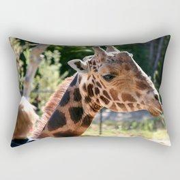 Baringo Giraffe with Child Rectangular Pillow