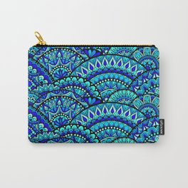 Wavey Mandalas Carry-All Pouch
