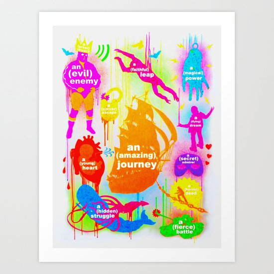 """YOUR OWN ADVENTURE"" Art Print"