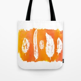 Ink & Feathers orange Tote Bag