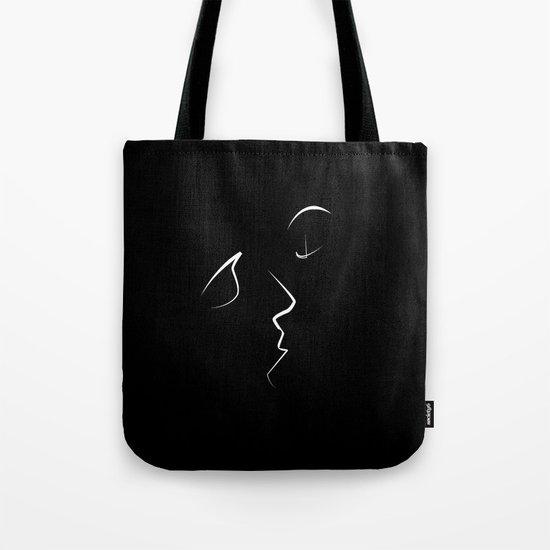 Kiss/beso/kuss/baiser/beijo NOIR Tote Bag