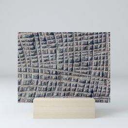 Sawn in Blue Granite Wall Mini Art Print