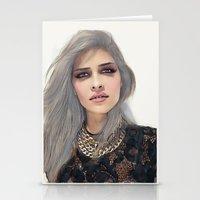 xoxo Stationery Cards featuring XOXO by Sara Eshak