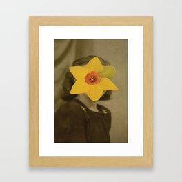 LADY NARCISSUS Framed Art Print