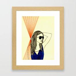 Long hair, don't care. Framed Art Print