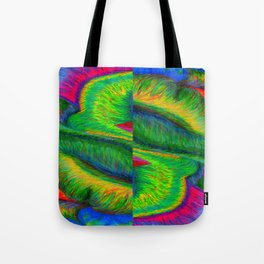 Zig When You Can Zag Tote Bag