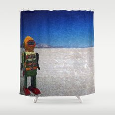 Toy Robots Attack Shower Curtain
