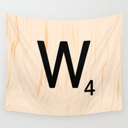 Scrabble Letter W - Scrabble Art and Apparel Wall Tapestry