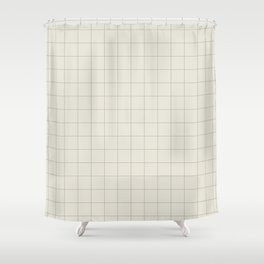 Grid 1 - Greige Shower Curtain