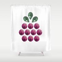 gem Shower Curtains featuring fruit gem by Pinkspoisons