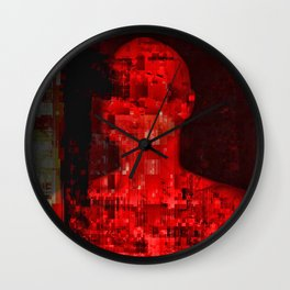 Red code Wall Clock