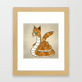 Cat Snake Framed Art Print