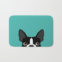 Boston Terrier head dog breed gifts cute pupper boston terriers must haves Bath Mat