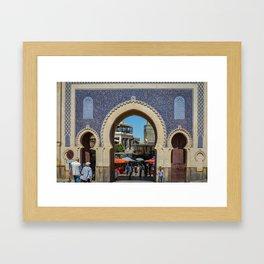 Facade of Bab Bou Jeloud Framed Art Print