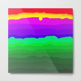 The World is a Rainbow of Color Metal Print