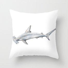 Hammerhead shark for shark lovers, divers and fishermen Throw Pillow