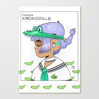 crocodile Canvas Prints featuring Crocodile by Natali Koromoto