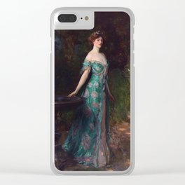 "John Singer Sargent ""Millicent Duches of Sutherland"" Clear iPhone Case"