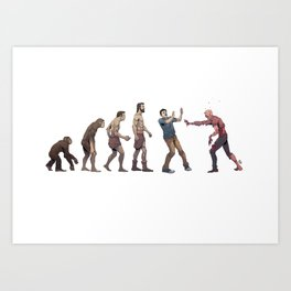 Evolution Dead Art Print