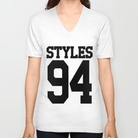 harry styles V-neck T-shirts featuring STYLES by Aline Monteiro