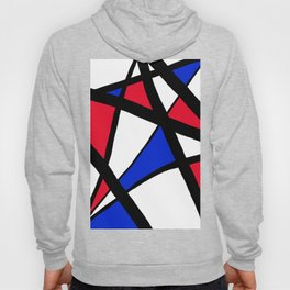 Geometric Red, White, and Blue Stars Abstract Hoody