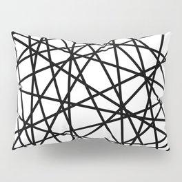 Lazer Dance Black on White Pillow Sham