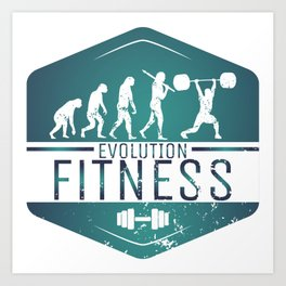 Evolution Fitness | Workout Training Muscles Art Print