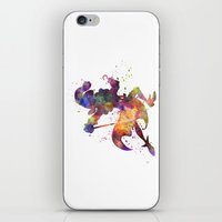 captain hook iPhone & iPod Skins featuring Captain Hook in watercolor by Paulrommer