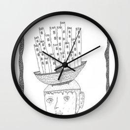 boat castle hat Wall Clock