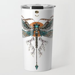 Dragon Fly Tattoo Travel Mug
