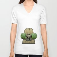 1975 V-neck T-shirts featuring Skate 1975 by Mark Matlock