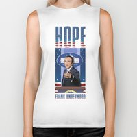house of cards Biker Tanks featuring House of Cards: Frank Underwood USA President by Akyanyme