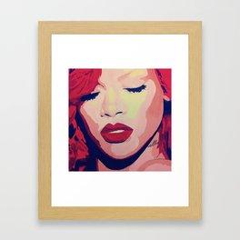 Rihanna Painting Framed Art Print