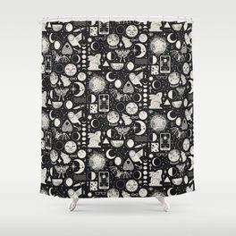 Lunar Pattern: Eclipse Shower Curtain