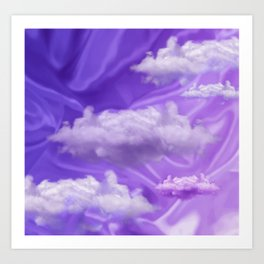 """Violet pastel sweet heaven and clouds"" Art Print"